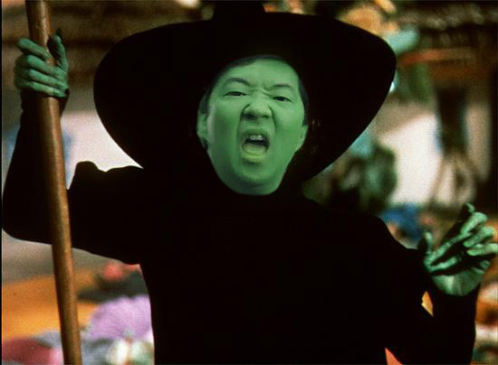 Ben Chang as the Wicked Witch of the West